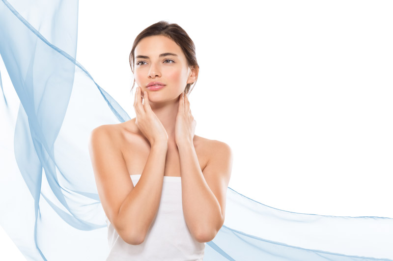 Deep wrinkles and folds treated with dermal fillers